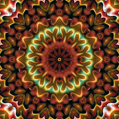 Poster featuring the digital art Mandala 71 by Terry Reynoldson