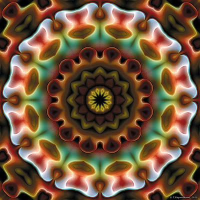 Poster featuring the digital art Mandala 74 by Terry Reynoldson