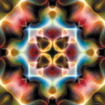 Poster featuring the digital art Mandala 77 by Terry Reynoldson