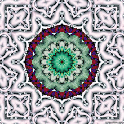 Poster featuring the digital art Mandala 8 by Terry Reynoldson