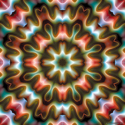 Poster featuring the digital art Mandala 80 by Terry Reynoldson