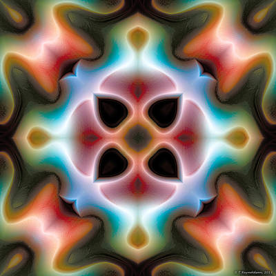Poster featuring the digital art Mandala 82 by Terry Reynoldson