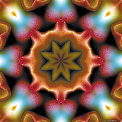 Poster featuring the digital art Mandala 94 by Terry Reynoldson