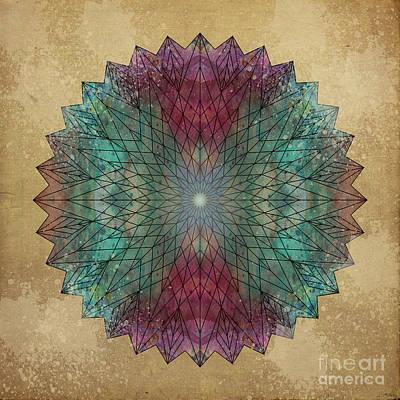 Mandala Crystal Poster by Filippo B