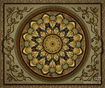 Mandala Earth Shell Sp Poster by Bedros Awak