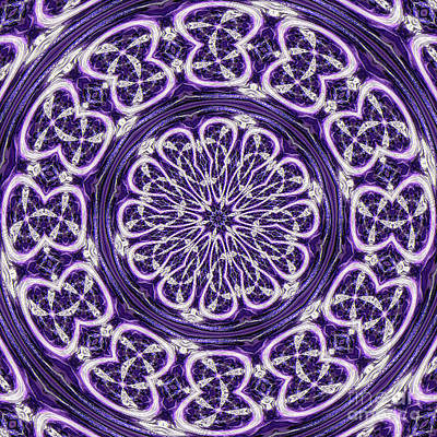 Poster featuring the photograph Mandala by Linda Weinstock