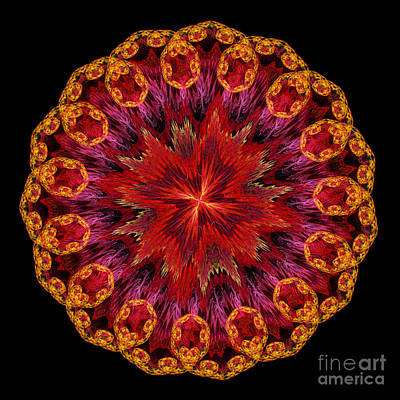 Mandala Of Love Poster by Martin Capek