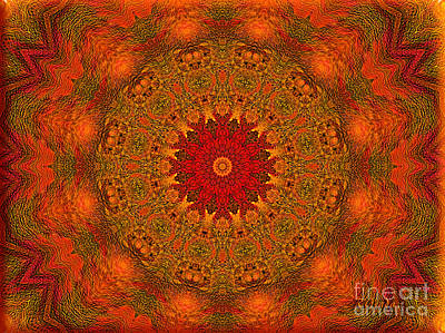 Mandala Of The Rising Sun - Spiritual Art By Giada Rossi Poster