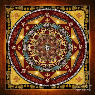 Mandala Oriental Bliss Poster by Bedros Awak