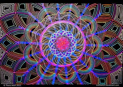 Mandala Sahasdrala Poster by Travis Hunt