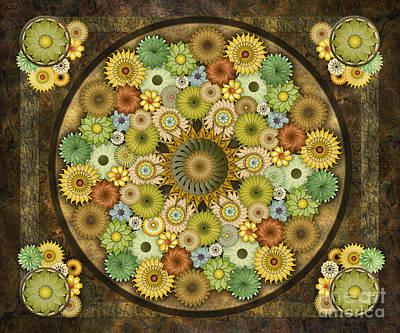 Mandala Stone Flowers Sp Poster