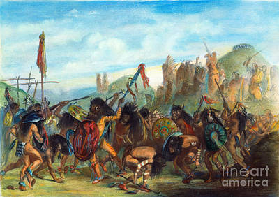 Mandan: Bison Dance, 1844 Poster by Granger