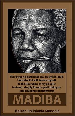 Mandela Poster by Ricardo Levins Morales