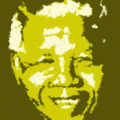 Mandela South African Icon  Yellow In The South African Flag Symbolizes Mineral Wealth Painting Poster by Asbjorn Lonvig