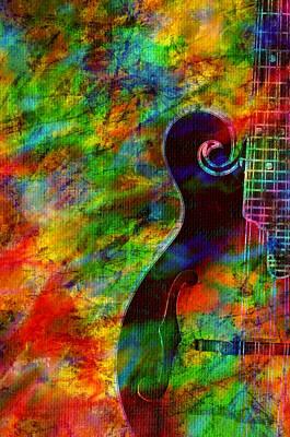 Mandolin Magic Poster by Ally  White