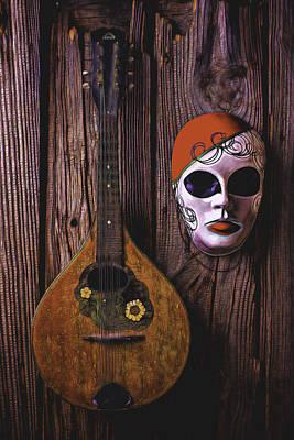 Mandolin Still Life Poster