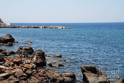 Mandraki Coastline Nisyros Poster by David Fowler