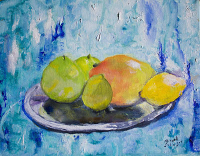 Poster featuring the painting Mango by Aleezah Selinger