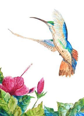 Mango Hummingbird Poster by Patricia Beebe