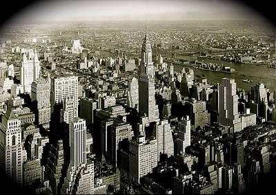 Manhattan And Chrysler Building II Poster