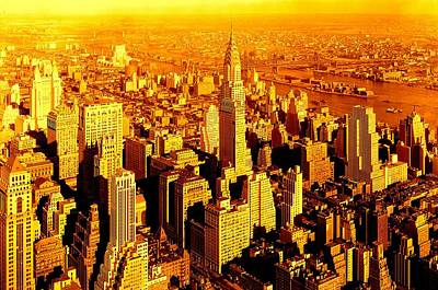 Manhattan And Chrysler Building Poster