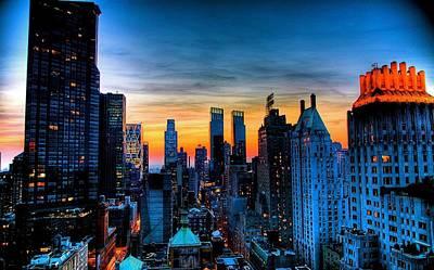 Manhattan At Sunset Poster