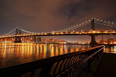 Manhattan Bridge And Williamsburg Bridge Poster by Toby McGuire