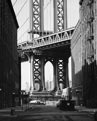 Manhattan Bridge Poster by Dave Beckerman