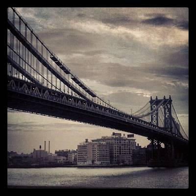 Manhattan Bridge In Ny Poster