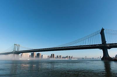 Manhattan Bridge In The Morning Mist Poster