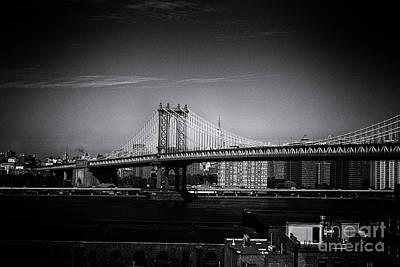 Manhattan Bridge New York City Poster by Sabine Jacobs