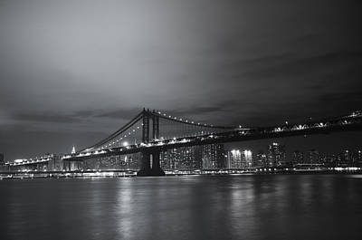 Manhattan Bridge - New York City Poster by Vivienne Gucwa