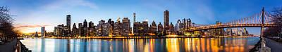 Manhattan Panorama And Queensboro Bridge Poster