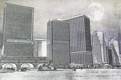 Manhattan Seaport Poster by Juli Scalzi