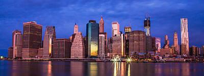 Manhattan Skyline At Sunrise Poster by John McGraw