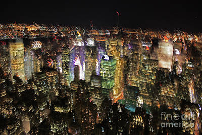 Poster featuring the photograph Manhattan Skyline Empire State Wobbles by Andy Prendy