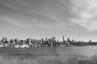 Manhattan Skyscraper In Black And White Poster by Ellie Teramoto