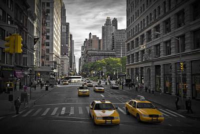 Manhattan Streetscene Poster by Melanie Viola