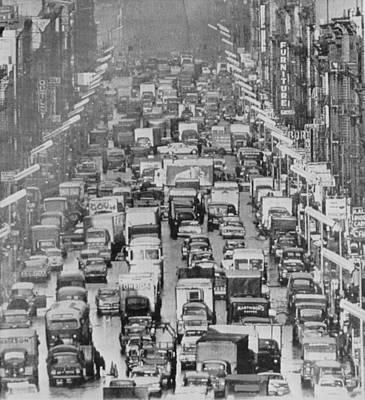 Manhattan Traffic Poster