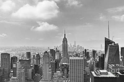Manhattan View Bw Poster
