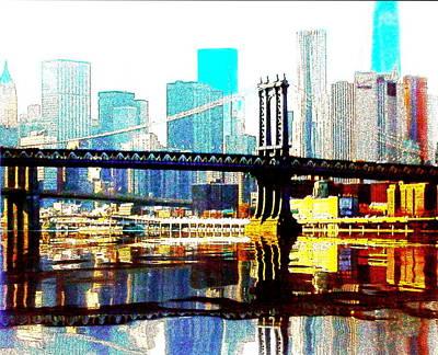 Manhatten Bridge Poster by Leonard  Te Nyenhuis