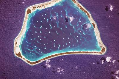 Manihiki Atoll Poster by Nasa