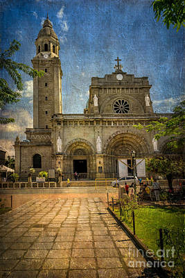 Manila Cathedral Poster by Adrian Evans