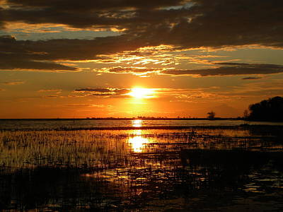 Poster featuring the photograph Manitoba Sunset by James Petersen