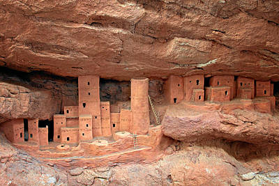 Manitou Cliff Dwellings Poster by Christine Till