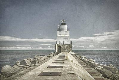 Manitowoc Breakwater Lighthouse II Poster by Joan Carroll