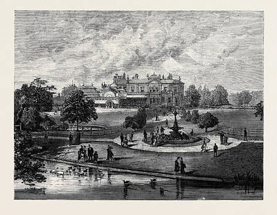 Manley Hall The New Public Park For Manchester 1880 Poster by English School