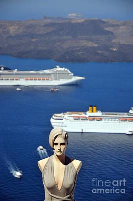 Mannequin Doll In Santorini Islandf Poster