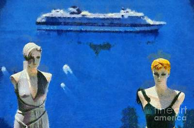 Mannequin Dolls In Fira City Poster by George Atsametakis
