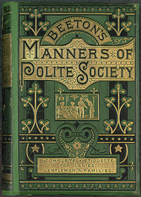 Manners Poster by British Library